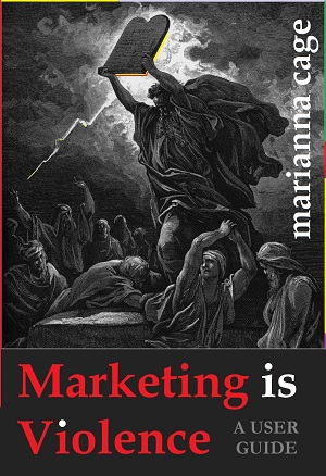 marketing is violence cover and link to amazon